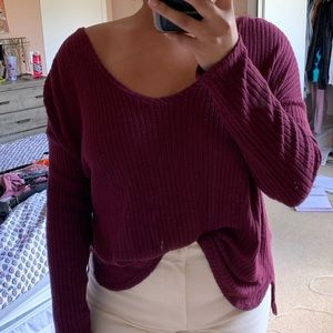 american eagle soft and sexy rib knit sweater tee